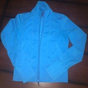 Blue lululemon workout jacket